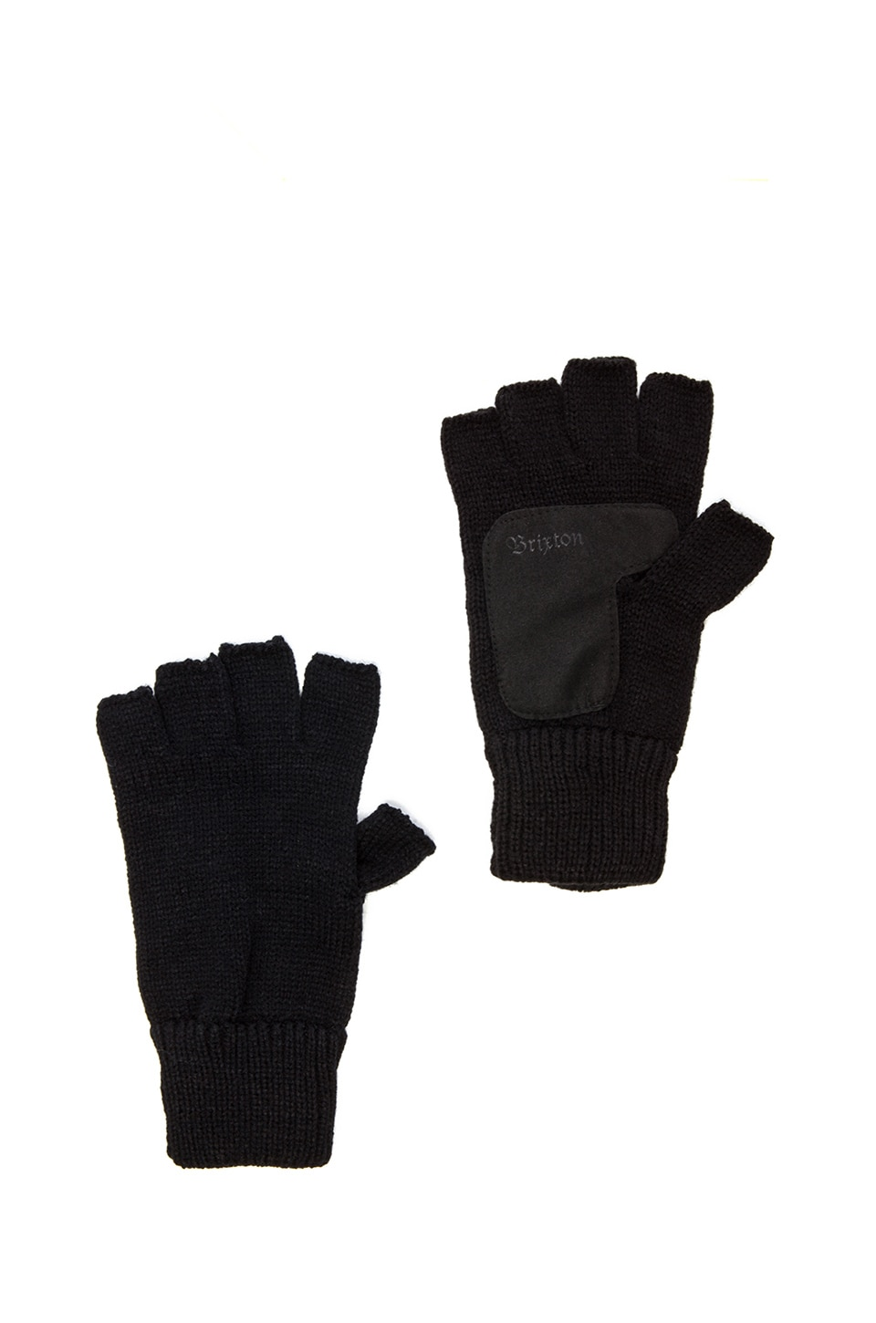 Brixton Cutter Fingerless Glove in Black