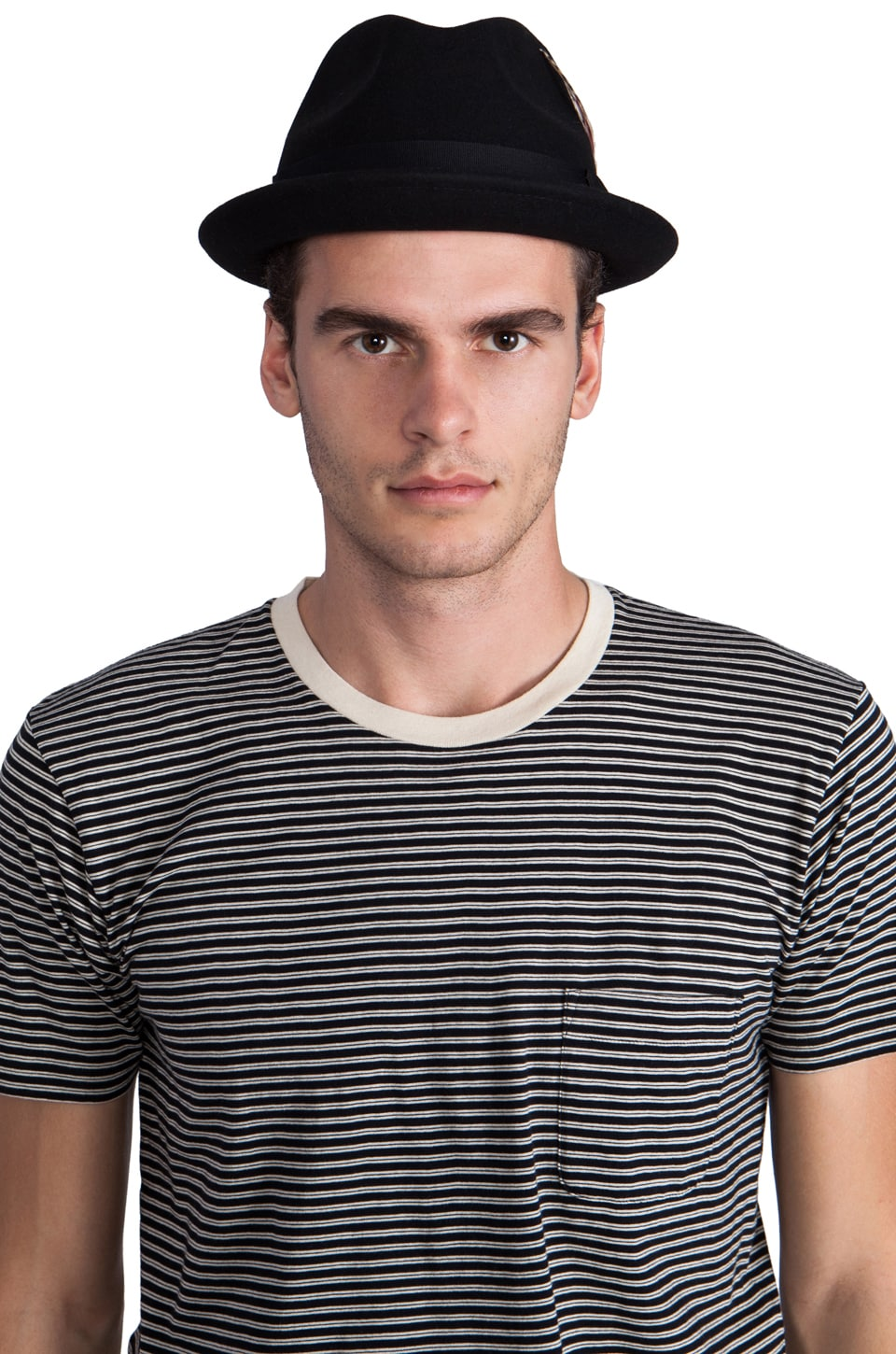 Brixton Gain Black Felt Hat