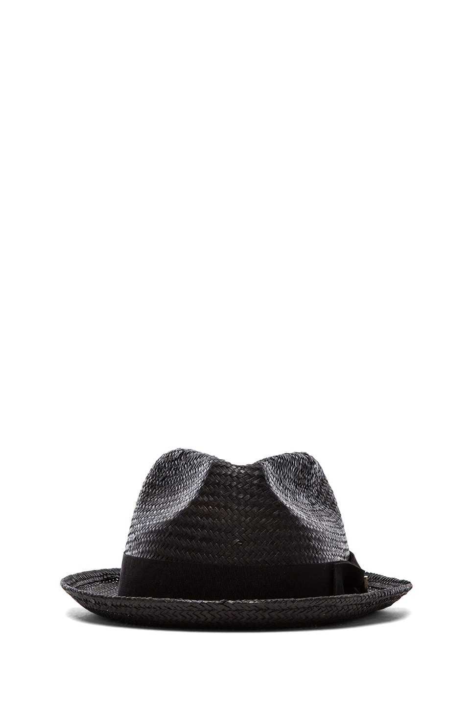 Brixton Castor Fedora in Black Straw