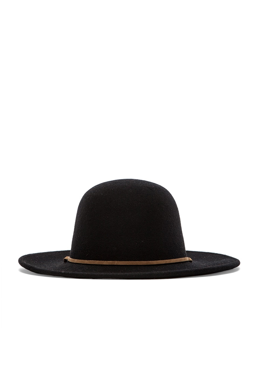 Brixton Tiller Wide Brim Hat in Black
