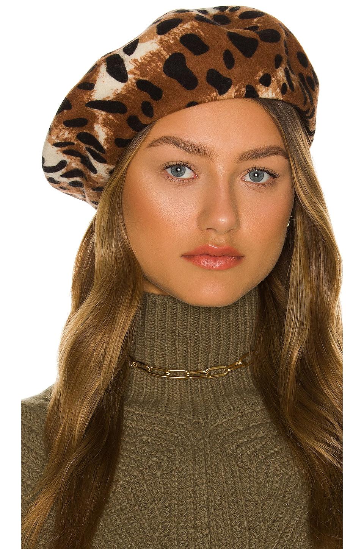 Brixton Audrey Beret in Leopard