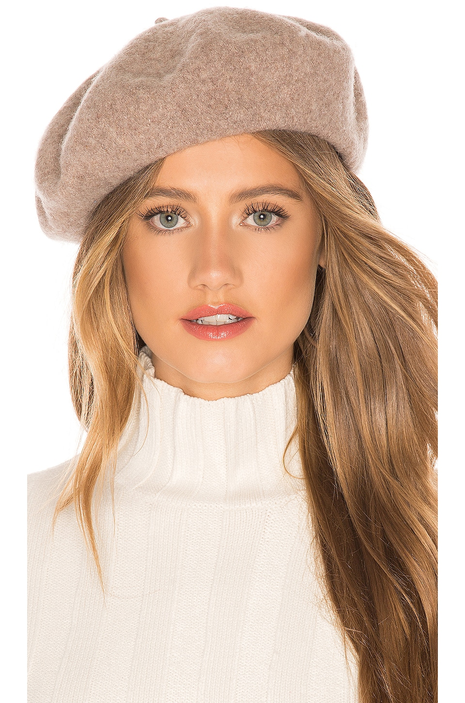 Brixton Audrey Beret in Heather Natural