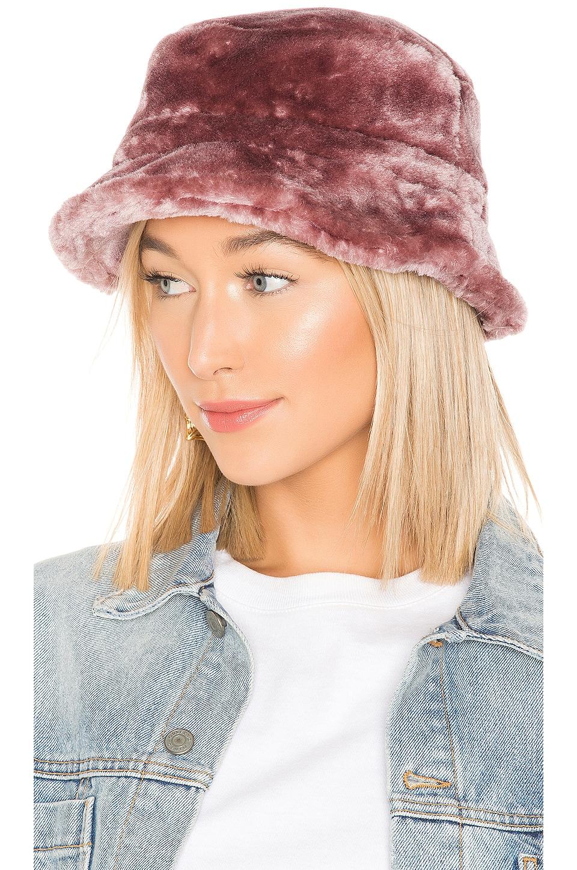 Brixton Hardy Faux Fur Bucket Hat in Violet