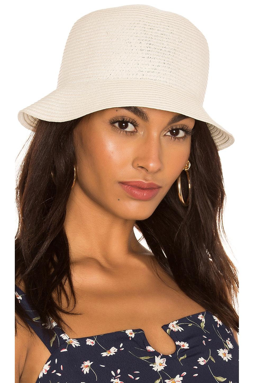 Brixton Essex Straw Bucket Hat in Tan