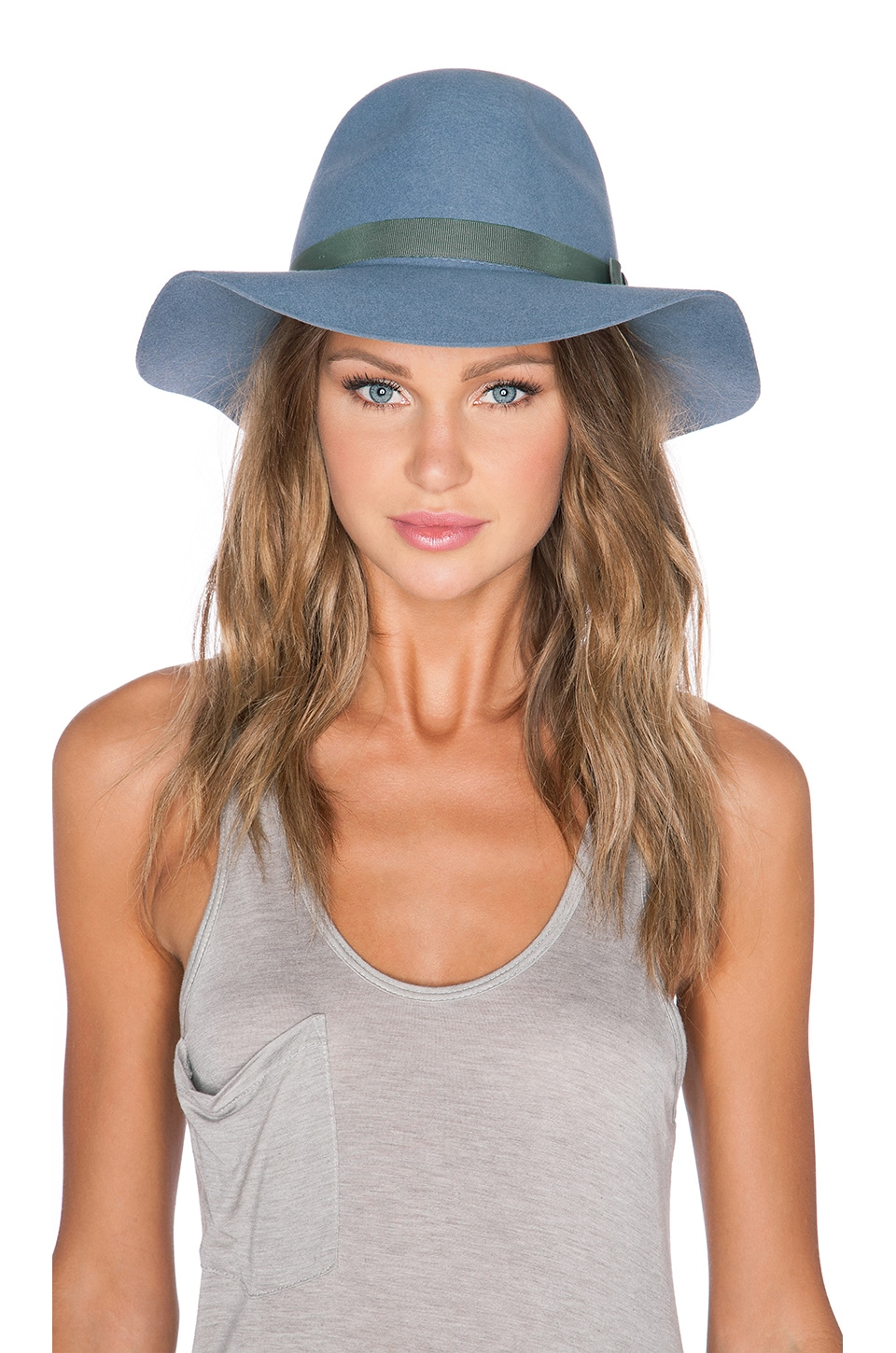 Brixton Dalila Hat in Flint Grey