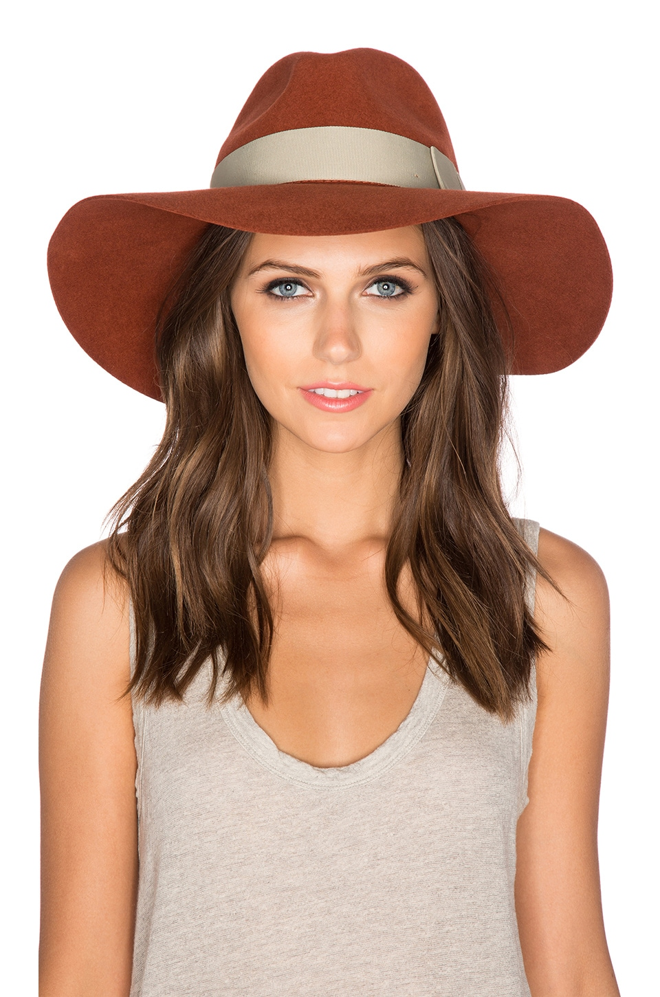 Brixton Piper Hat in Coral