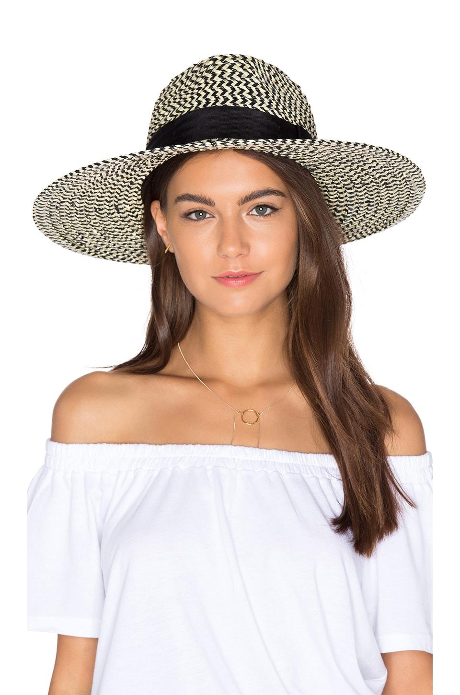Brixton Joanna Hat in Black & Cream