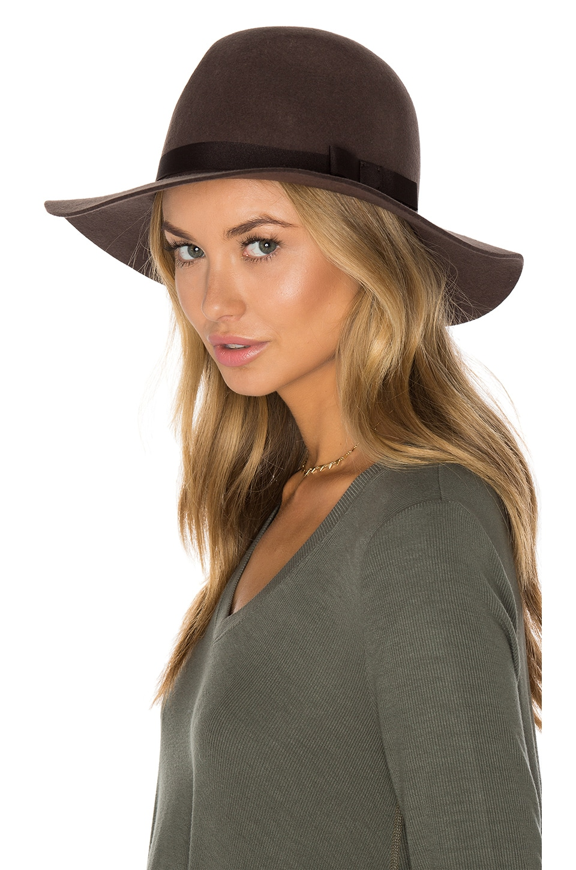 Brixton Dalila Hat in Brown  4f6a24bd95b