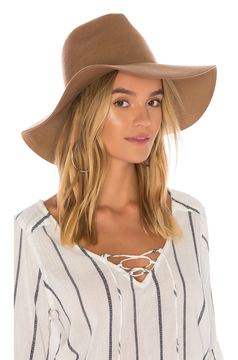 Brixton Aimee Fedora in Tan
