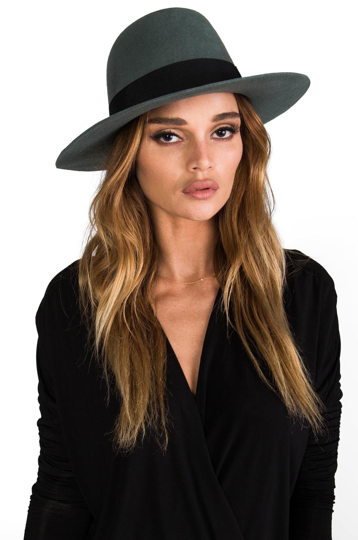 Brixton Count Hat in Grey