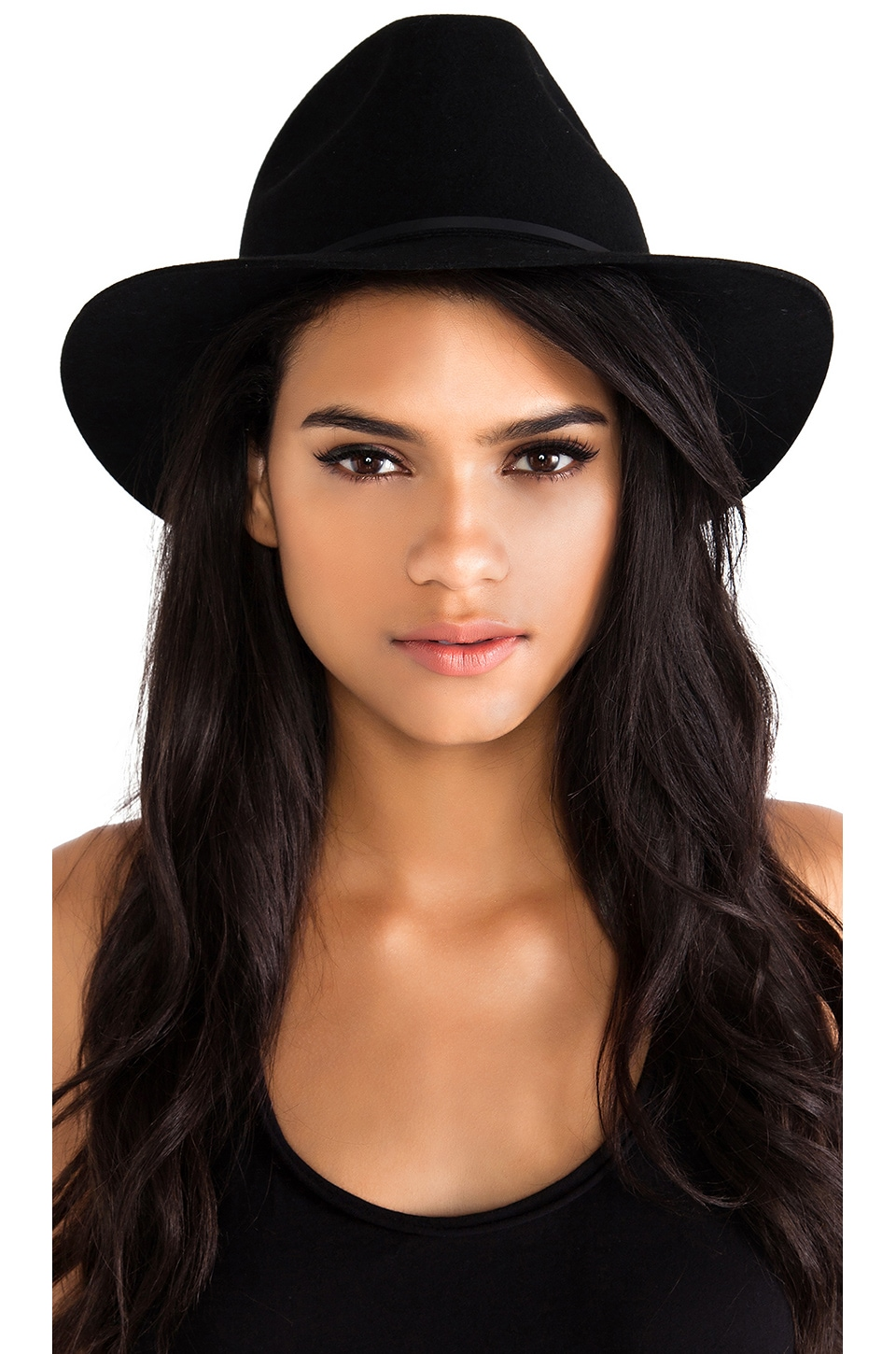 Brixton Wesley Fedora in Black