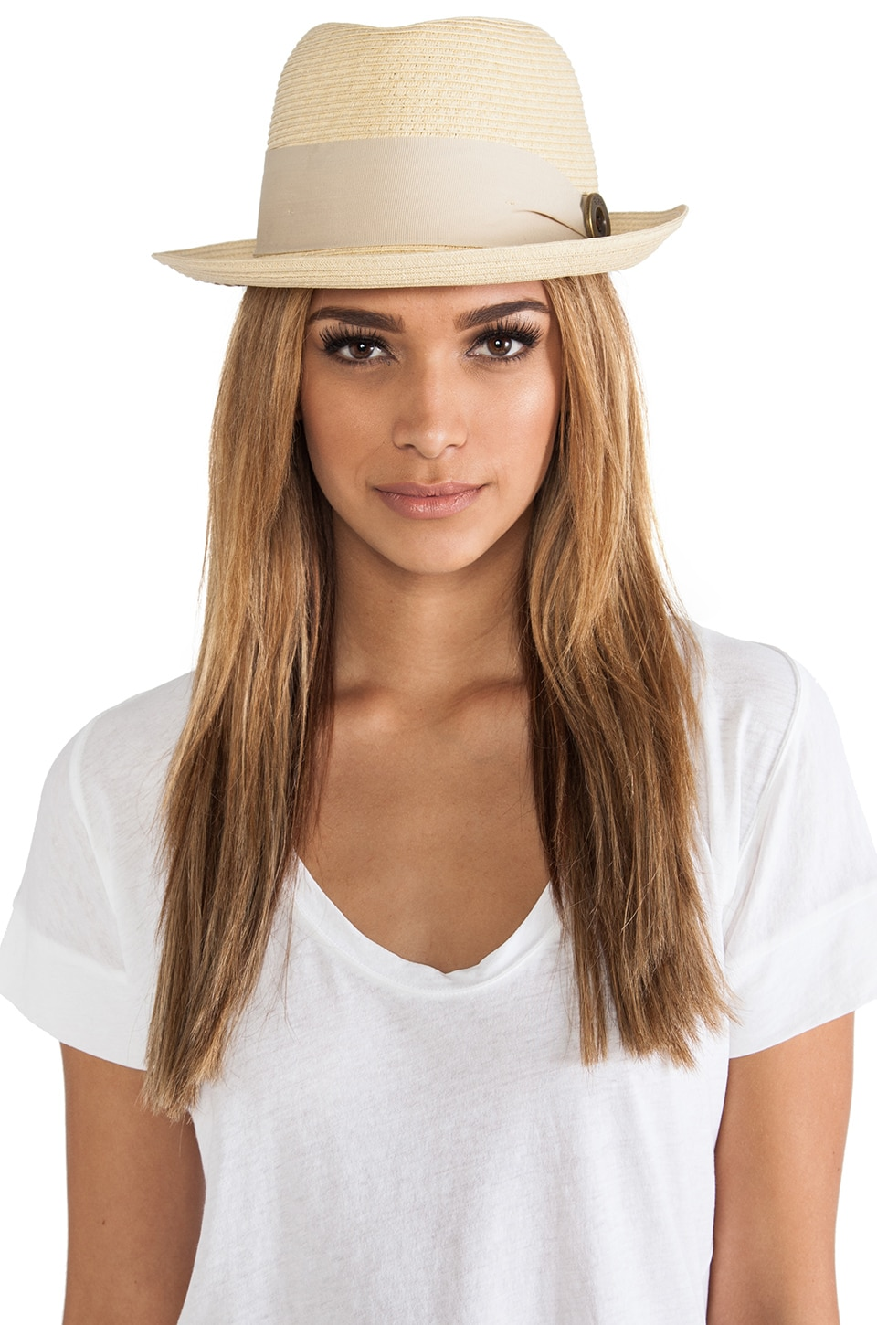 Brixton Parlor Hat in Light Tan