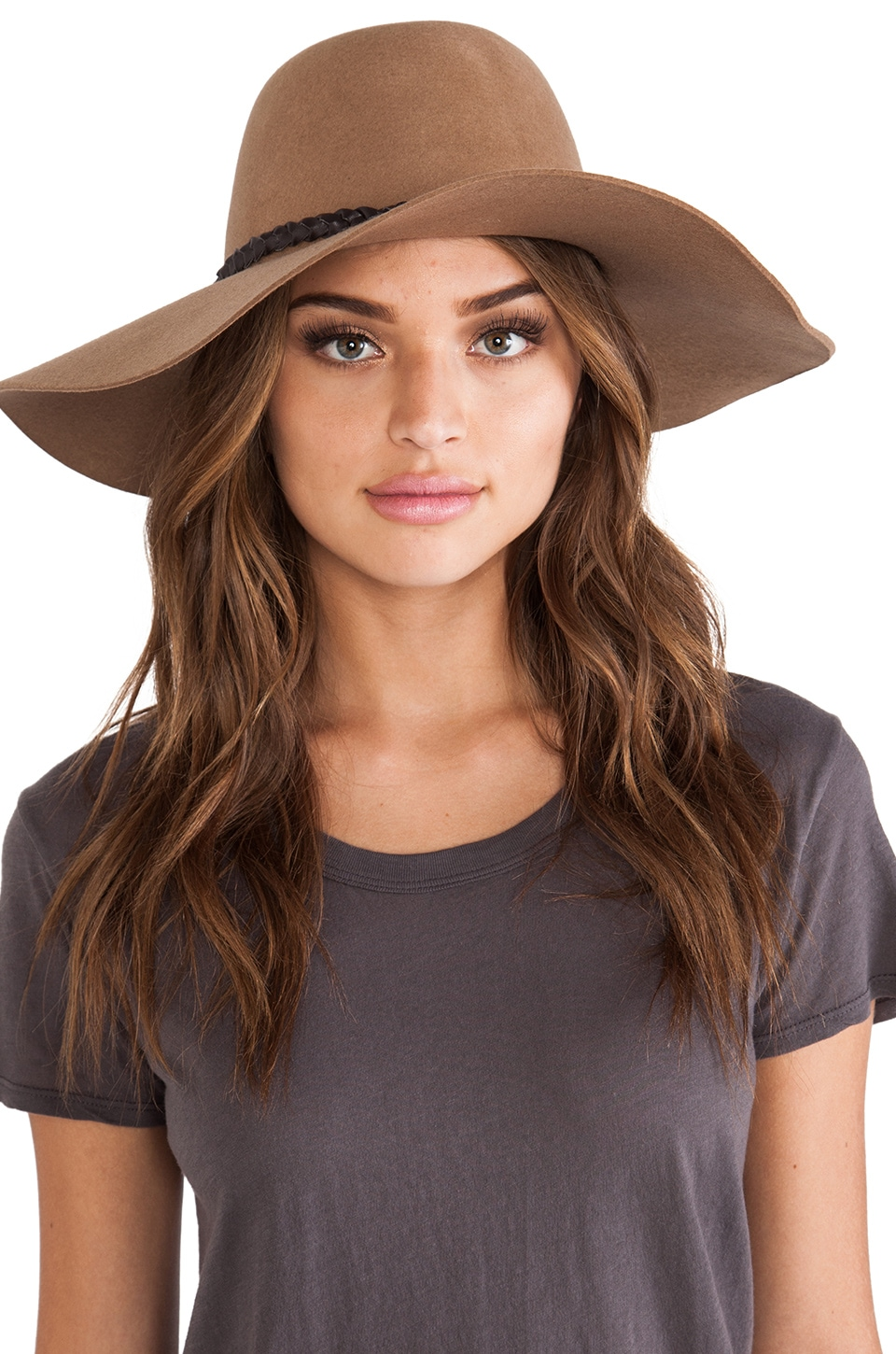 Brixton Gia Hat in Tan
