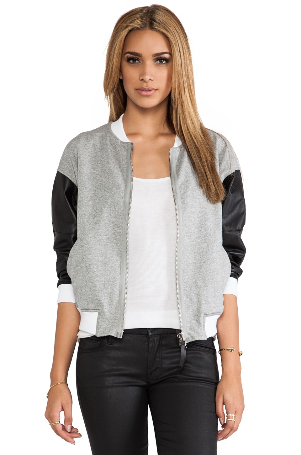 BROGDEN Bomber Jacket in Black & White