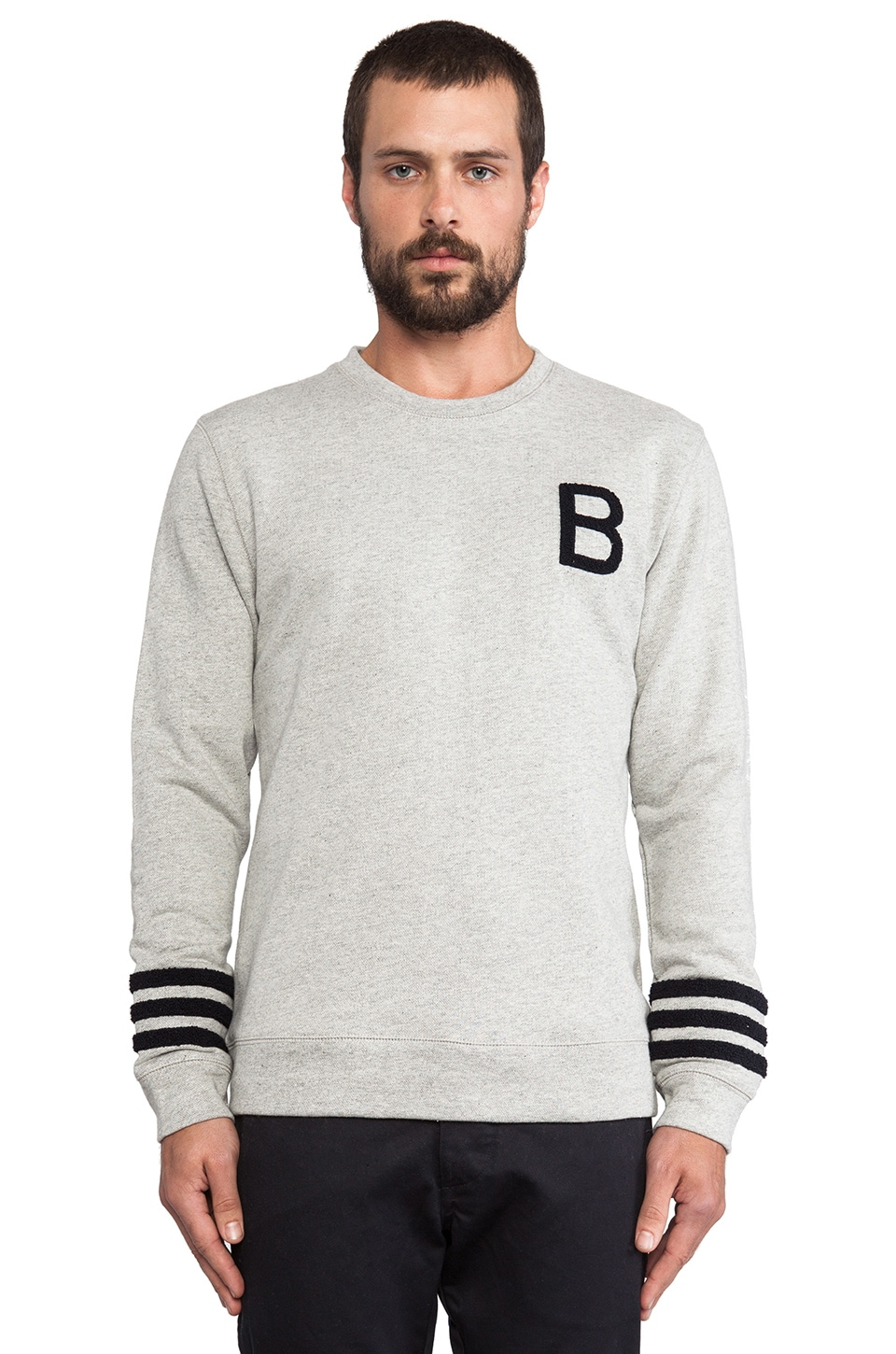 Brooklyn We Go Hard Bay Sweatshirt in Grey