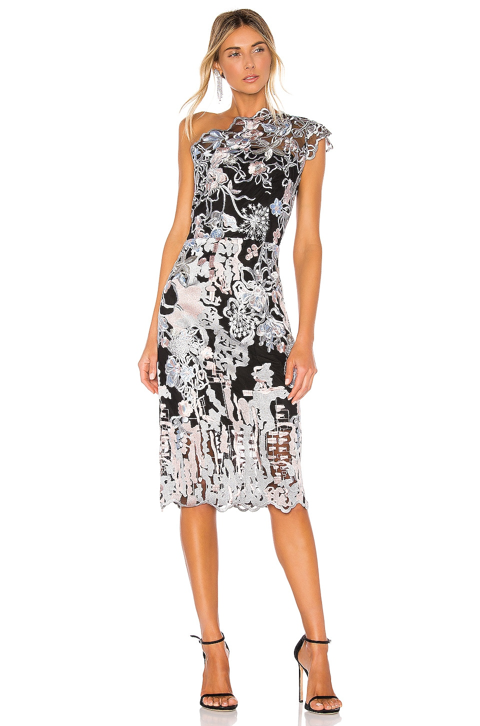 Bronx and Banco Tokyo One Shoulder Dress in Multi