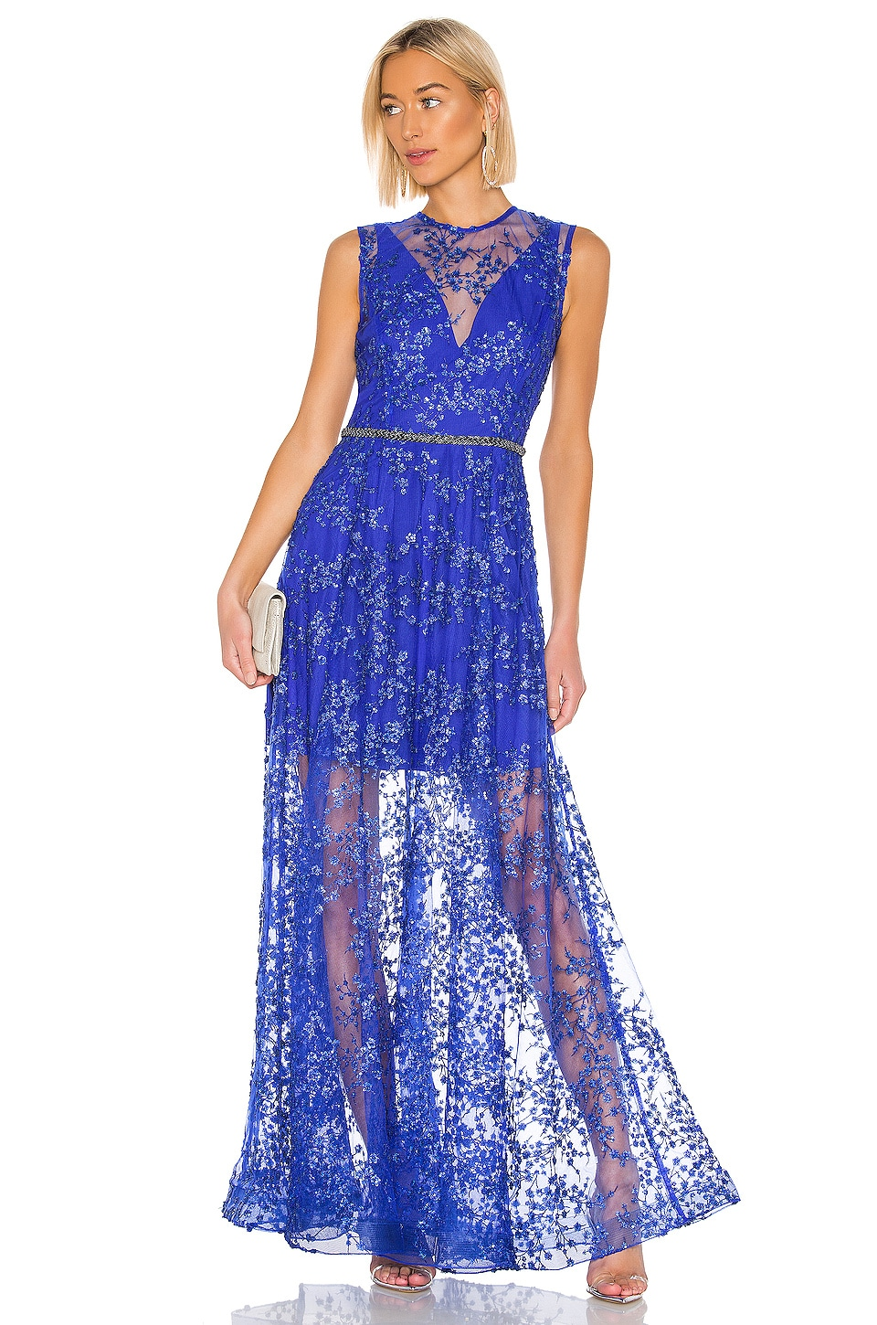 Bronx and Banco Olympia Gown in Cobalt
