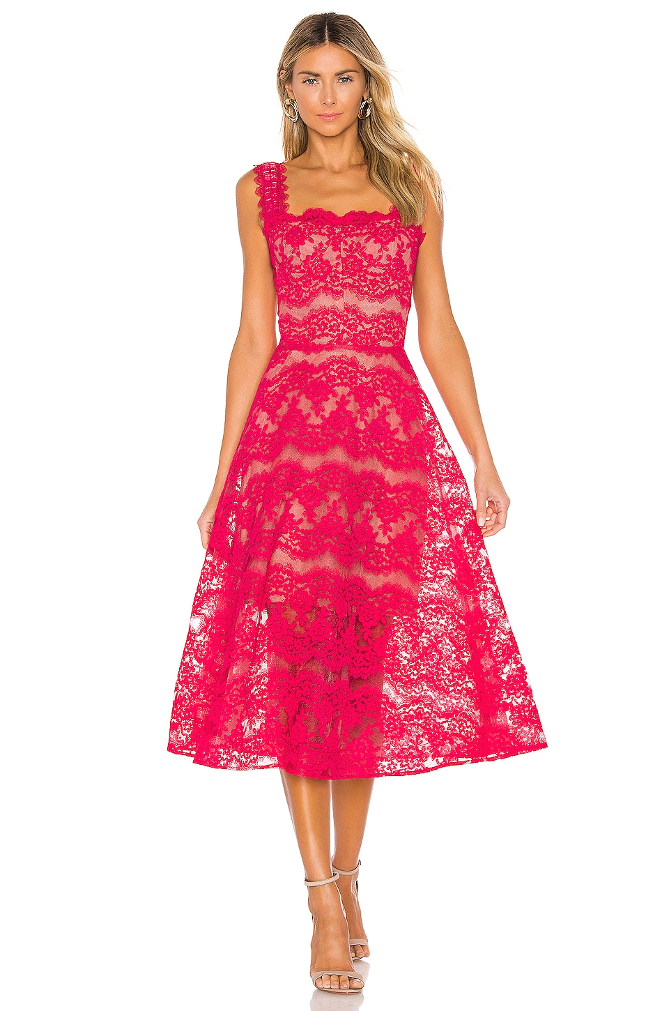 Bronx and Banco Britney Gown in Fuchsia