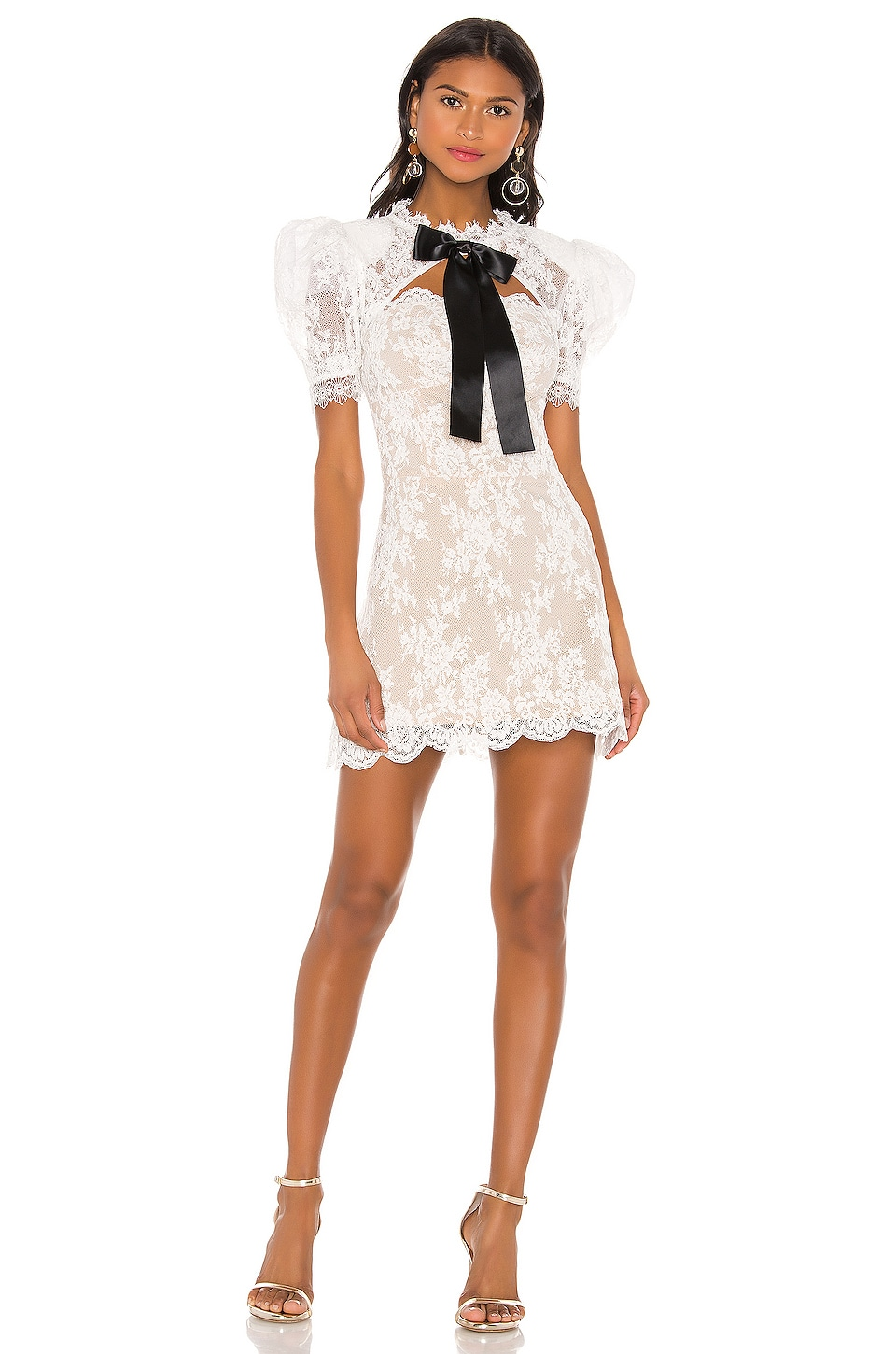 Bronx and Banco Valentina Bow Dress in White & Black