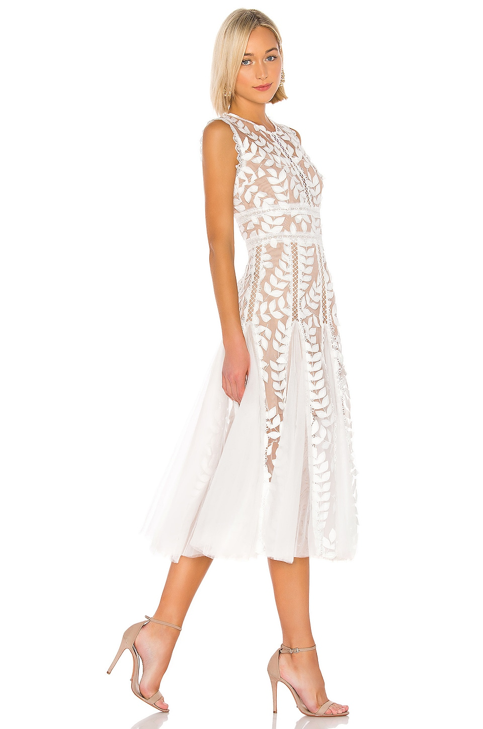 Saba Blanc Midi Dress, view 2, click to view large image.