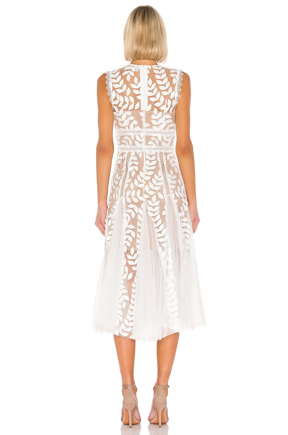 Saba Blanc Midi Dress, view 3, click to view large image.