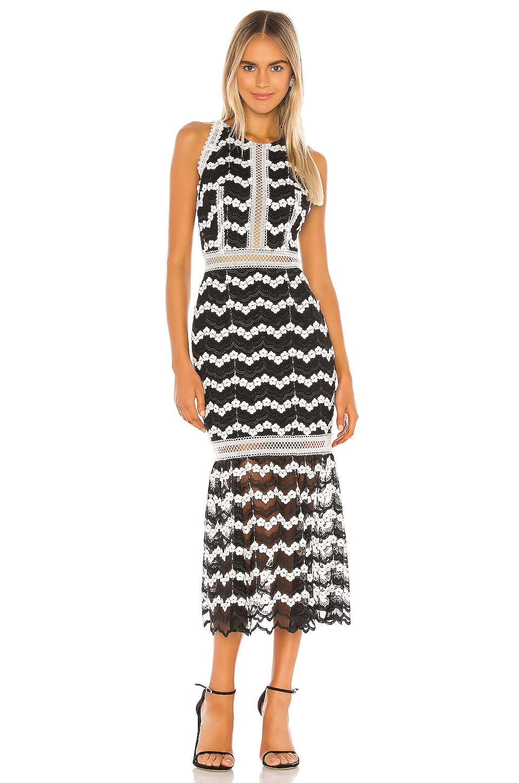 Bronx and Banco Emma Midi Dress in Black & White
