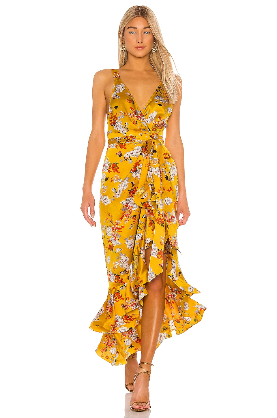 Bronx and Banco Narciss Midi Dress in Yellow