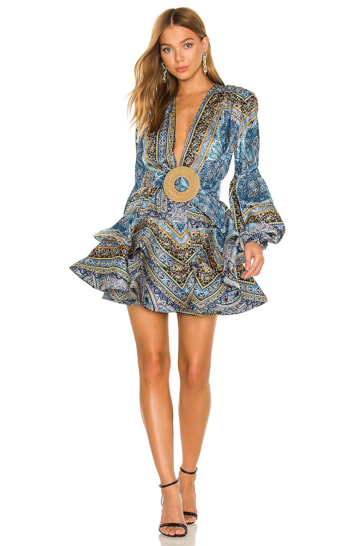 Bronx and Banco Bedouin Blue Mini Dress in Blue & Multicolor