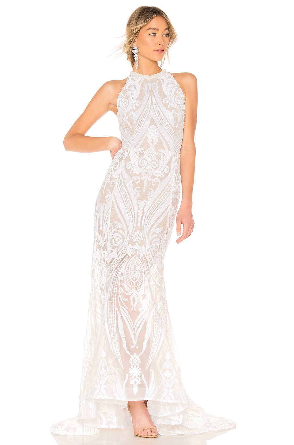 Bronx and Banco Ester Gown in White
