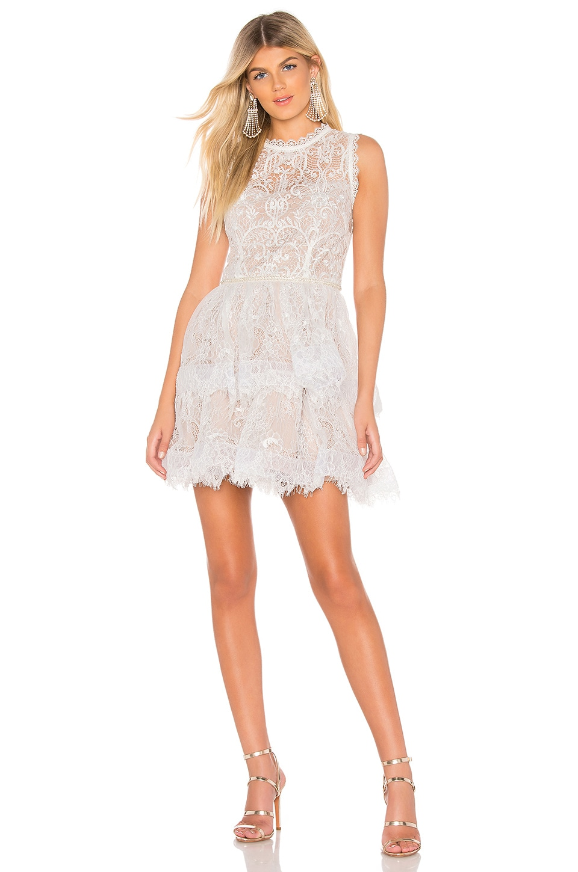 Bronx and Banco Florence White Mini Dress in White