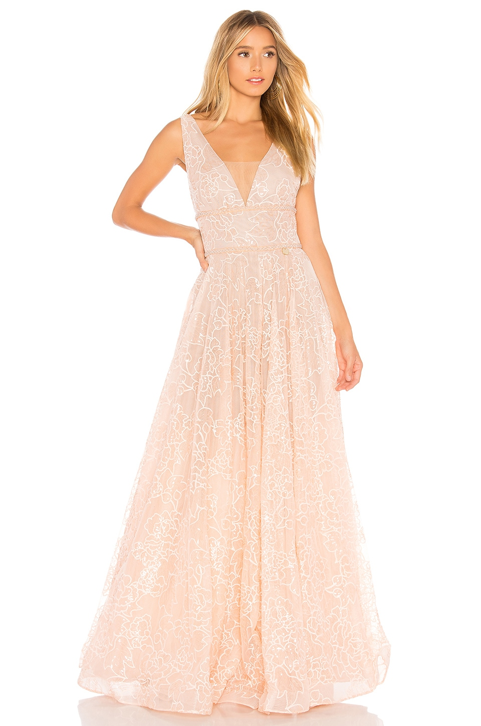 Bronx and Banco Emily Blush Gown in Blush