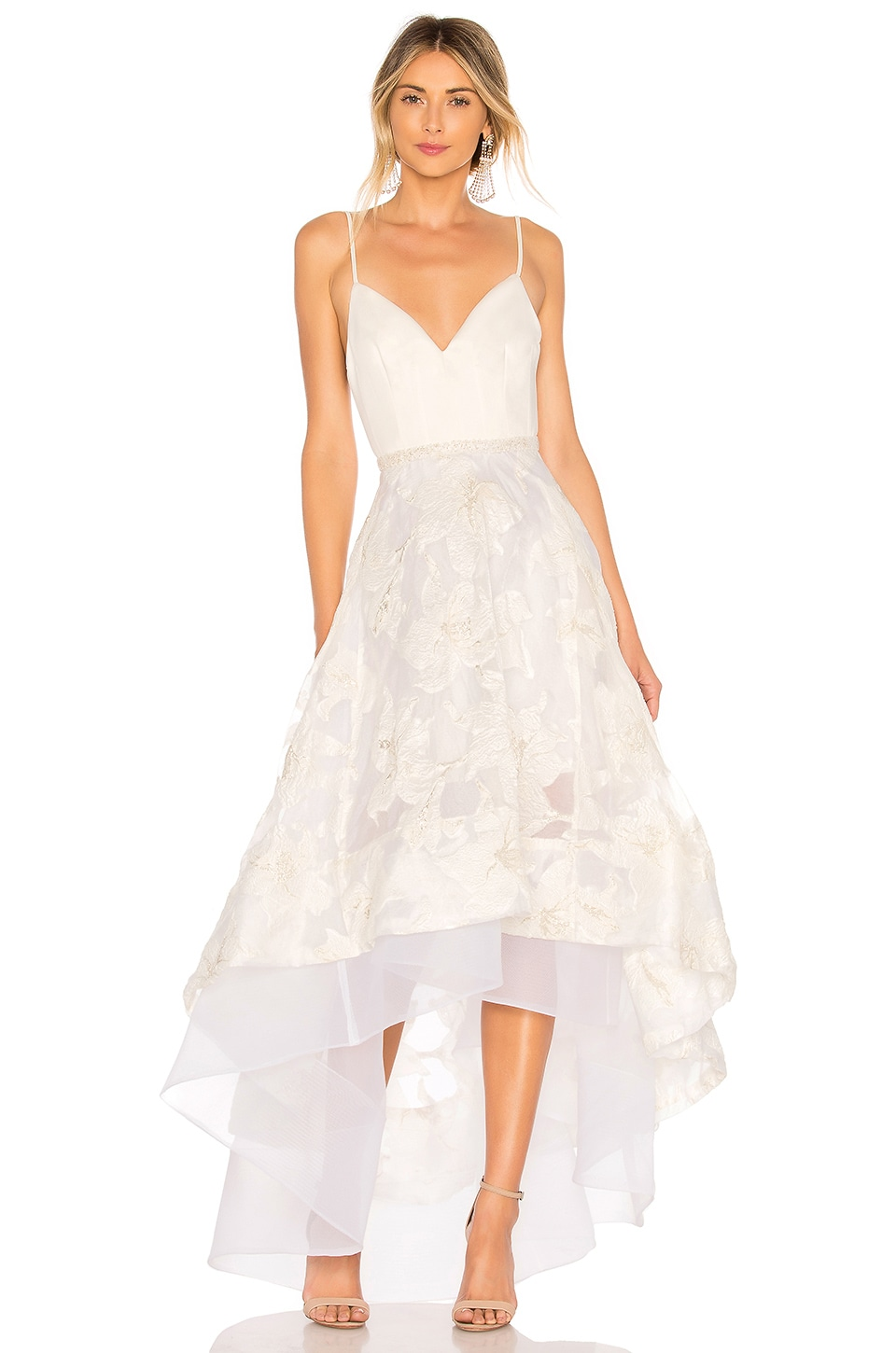 Bronx and Banco Alexia Gown in White & Gold