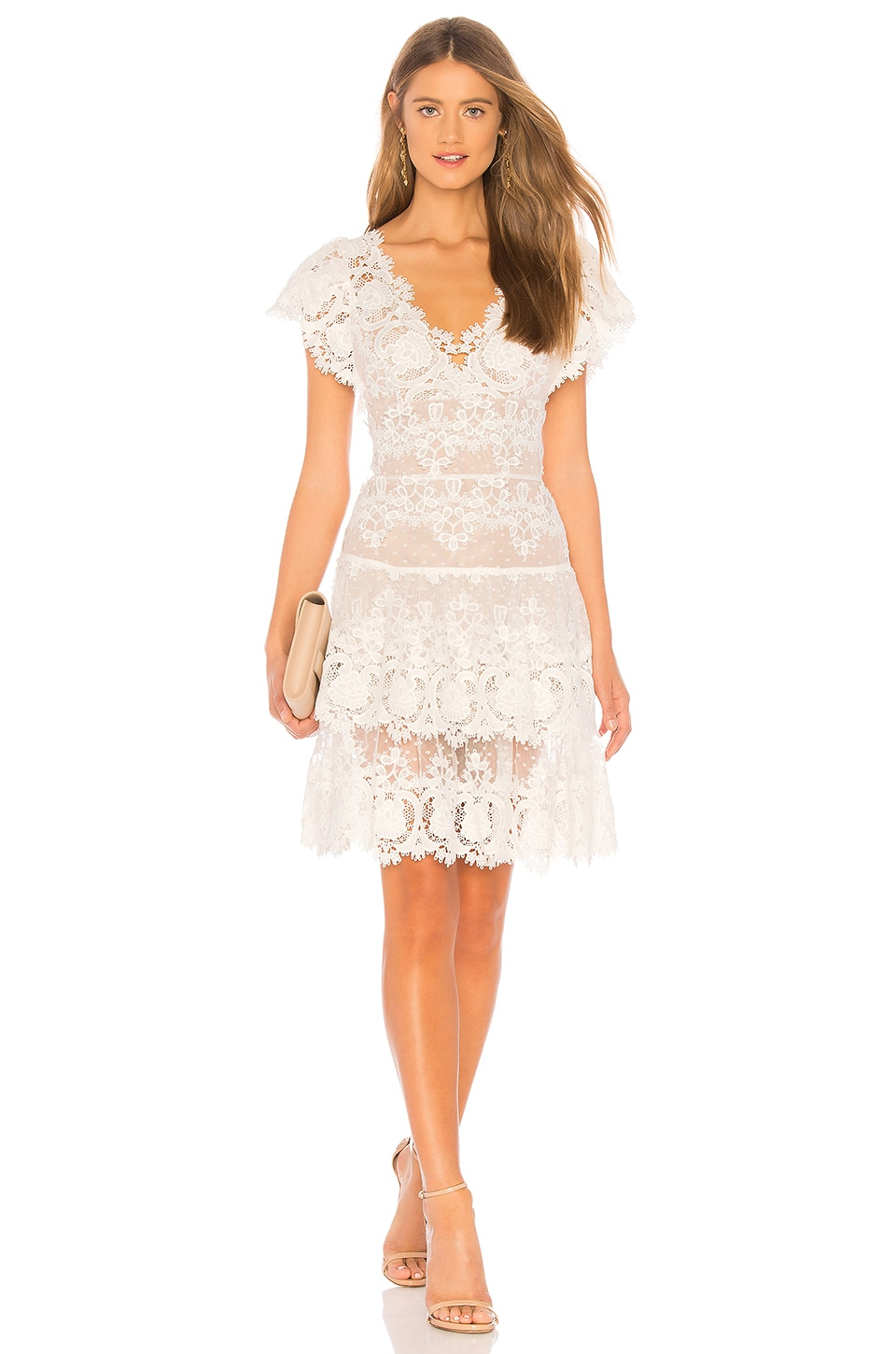 Bronx and Banco Beverly Dress in White