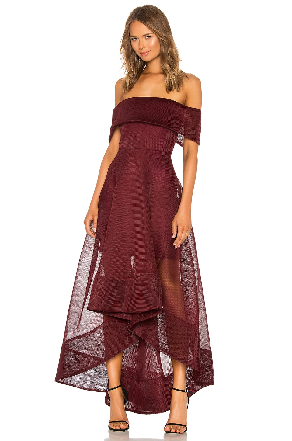 Bronx and Banco X REVOLVE Tulip Gown in Burgundy