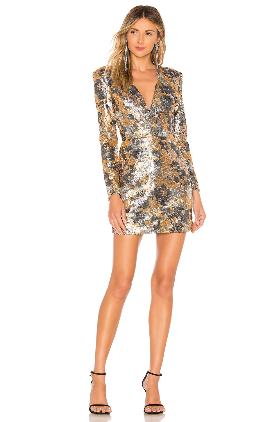 Bronx and Banco Xena Dress in Gold & Silver