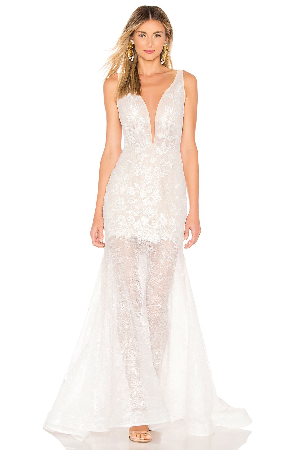 Bronx and Banco Estelle Gown in White