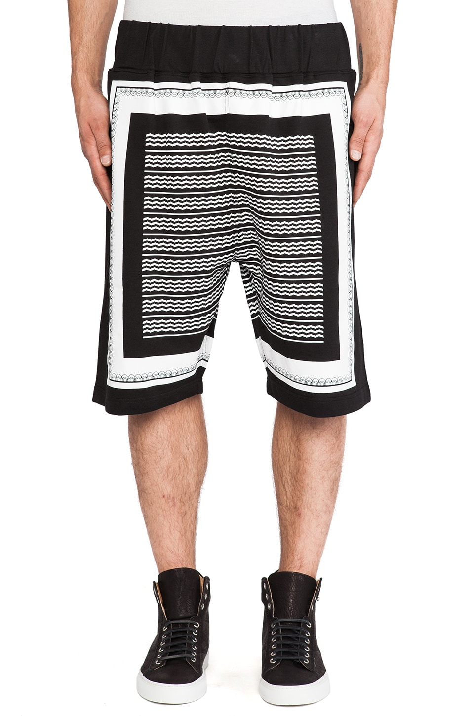 Black Scale Hellday Shorts in Black