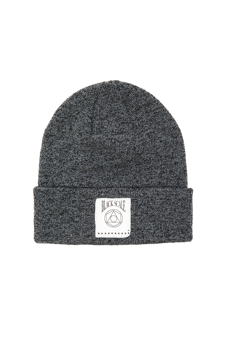 Black Scale Geo Logo Beanie in Grey