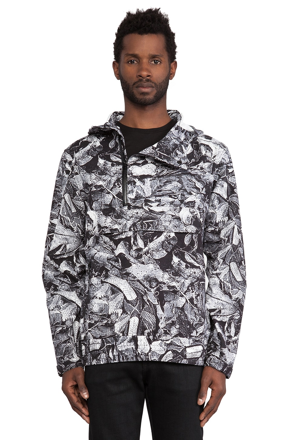 Black Scale Erlanger Anorak in Black