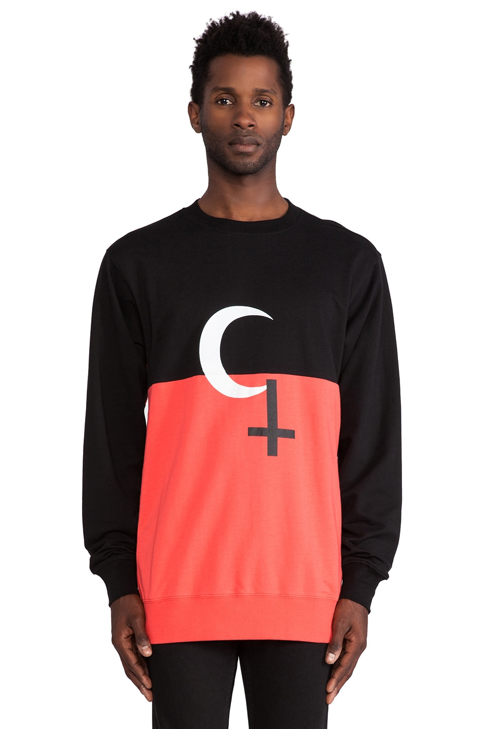 Black Scale Religious Holiday Crew in Black