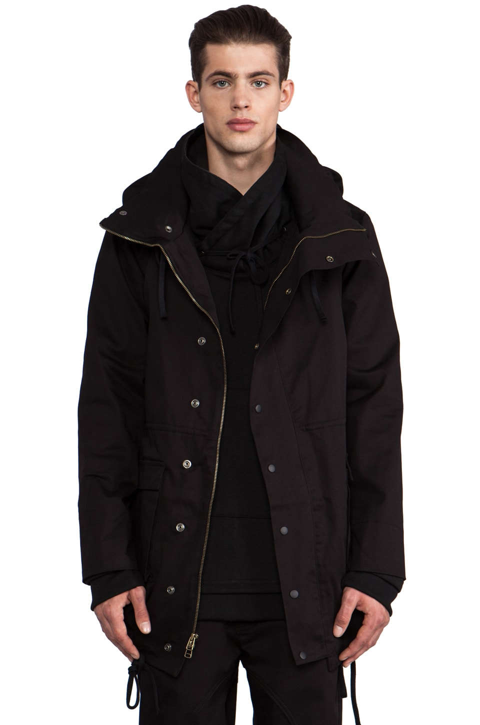 B:Scott Anorak Mock Jacket in Black