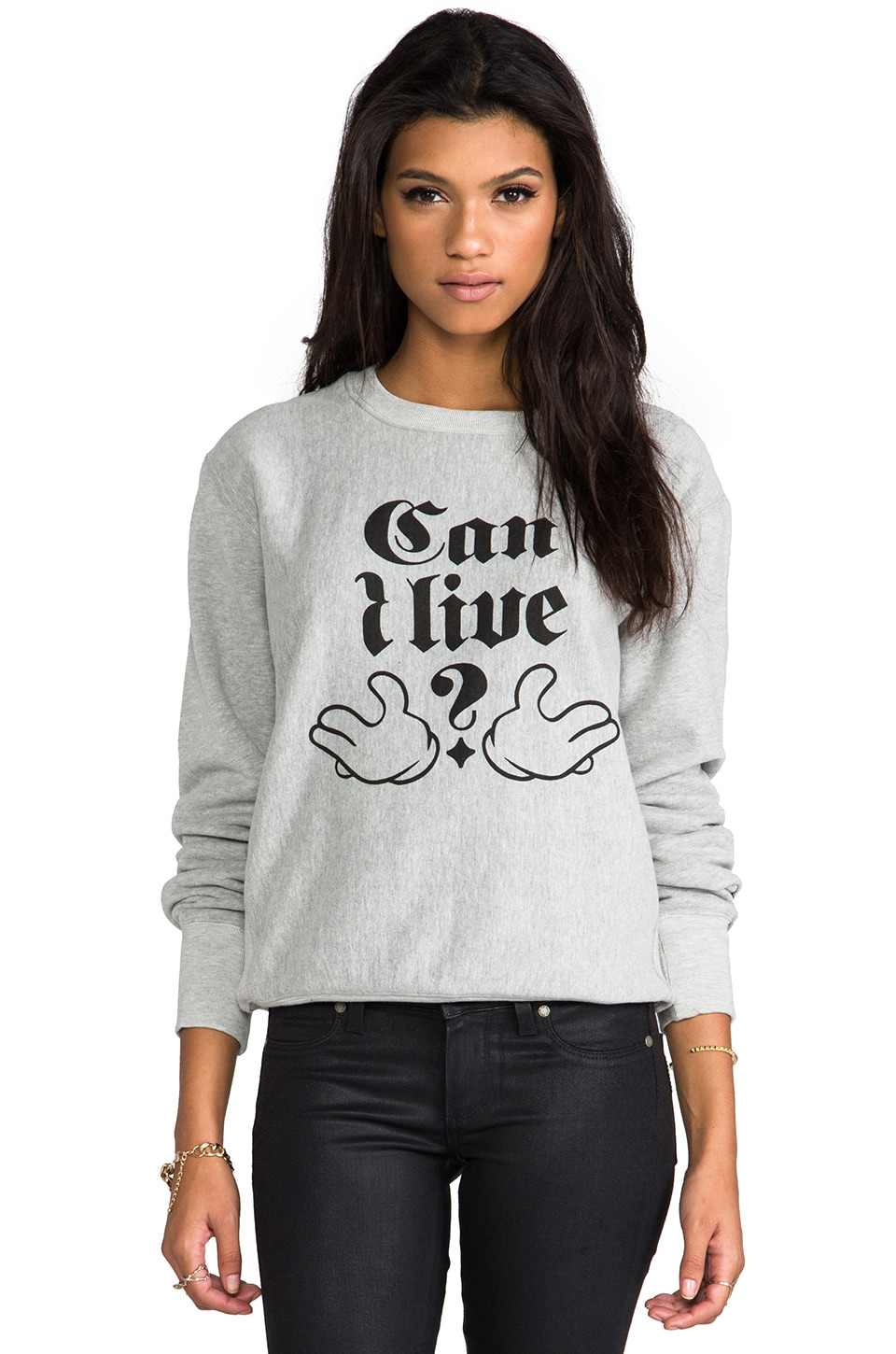 B-side by Wale Can I Live Sweatshirt in Heather Grey/Black