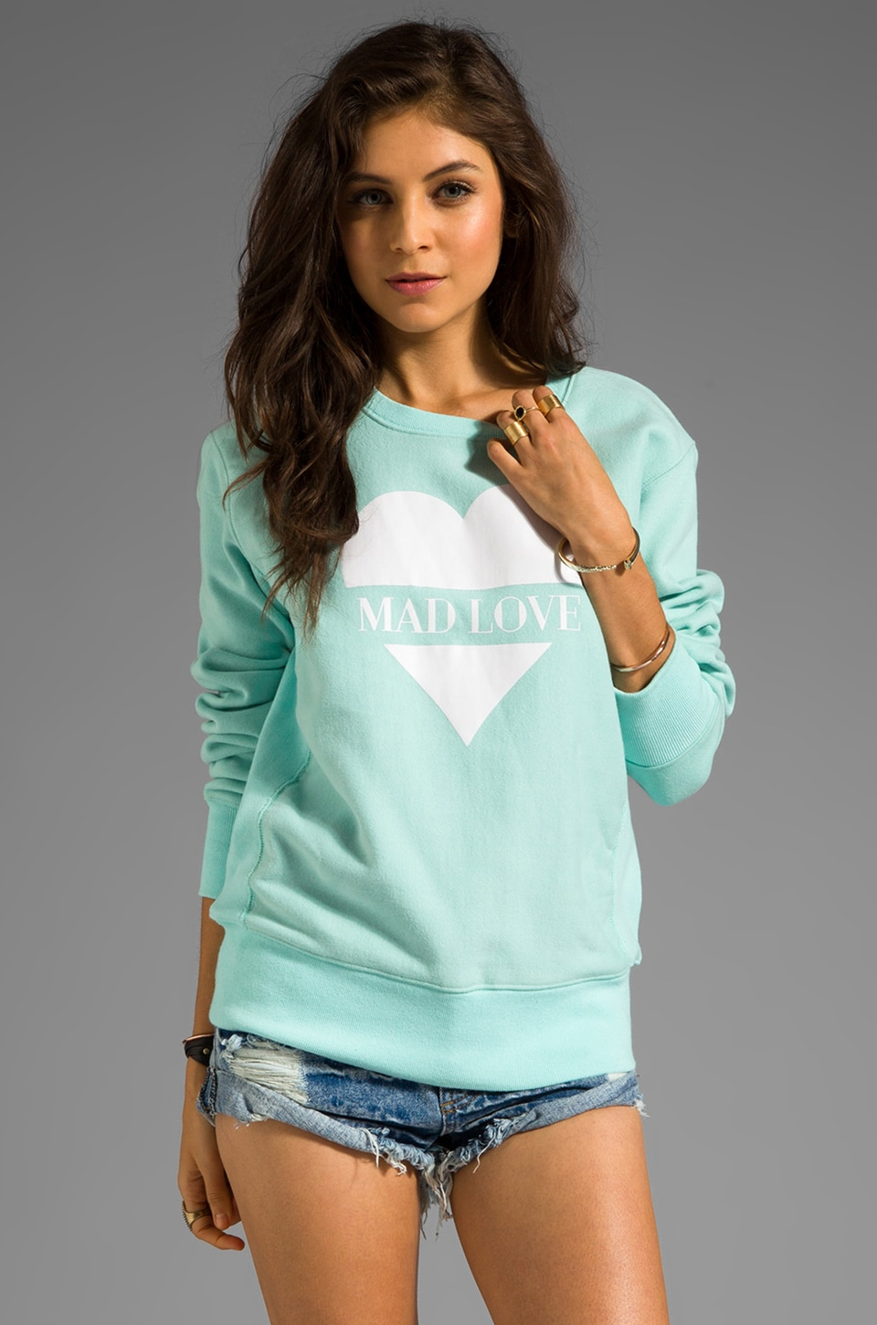B-side by Wale Mad Love Sweatshirt in Sky Blue