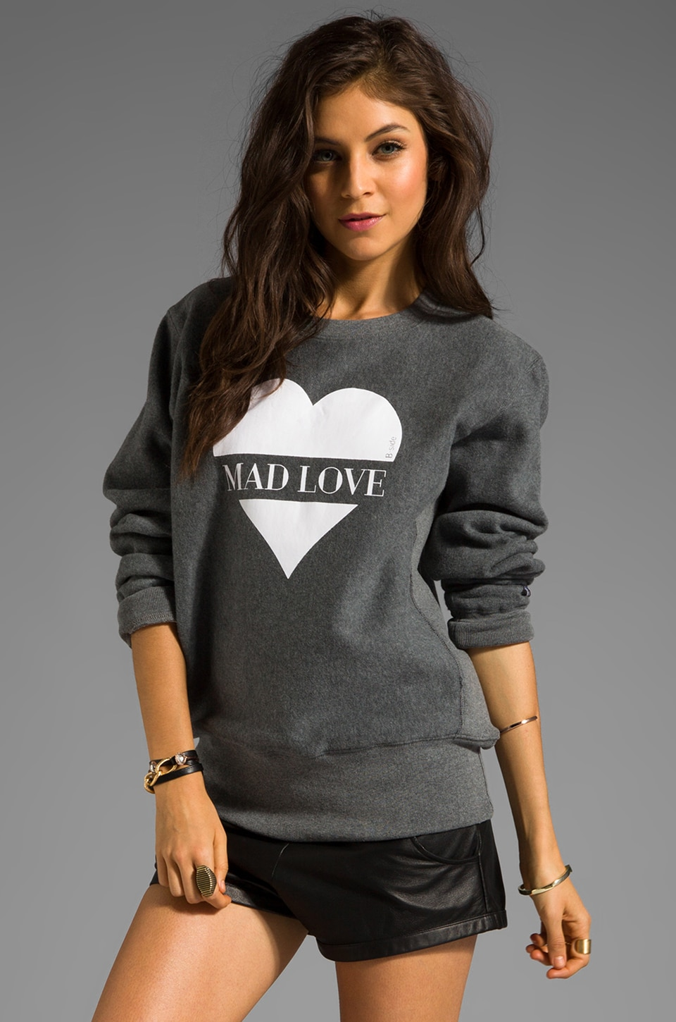 B-side by Wale Mad Love Sweatshirt in Grey