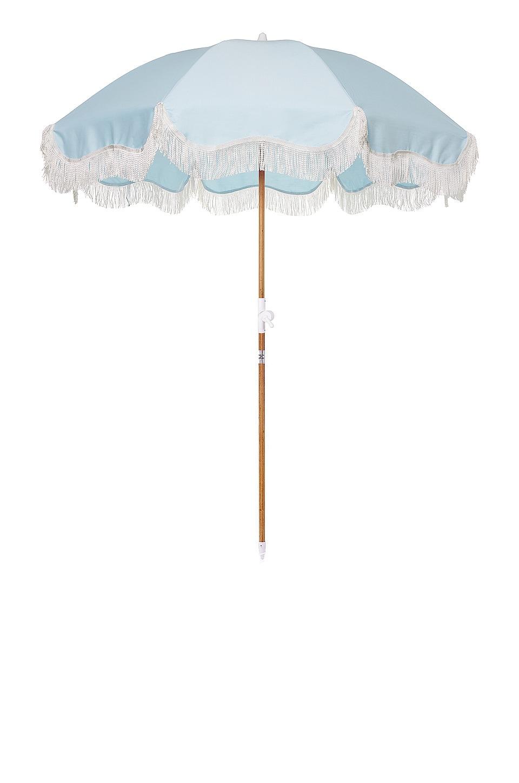 business & pleasure co. Holiday Beach Umbrella in Santorini Blue