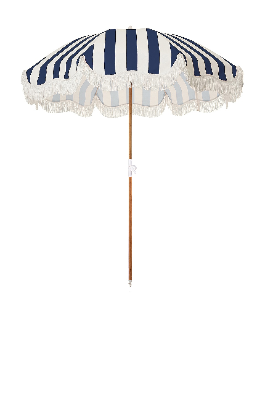 business & pleasure co. Holiday Beach Umbrella in Crew Navy Stripe