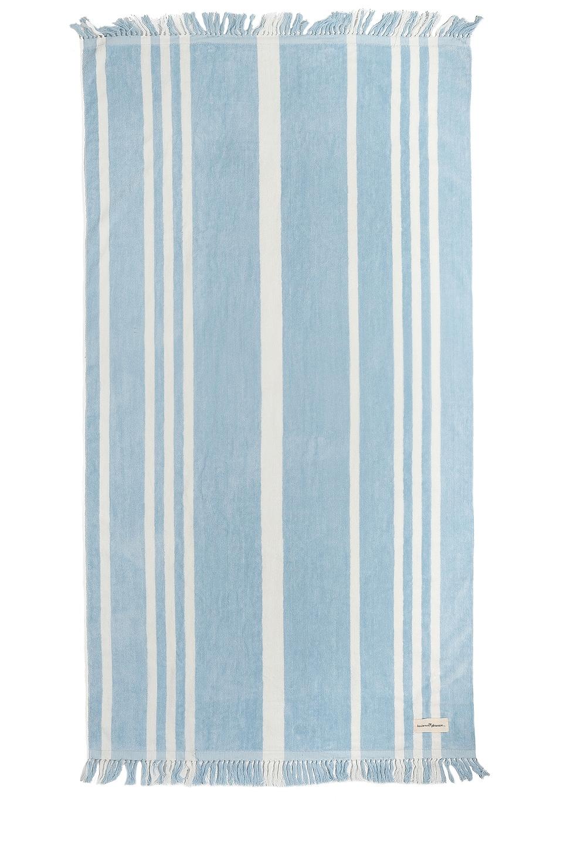 business & pleasure co. The Beach Towel in Vintage Blue Stripe