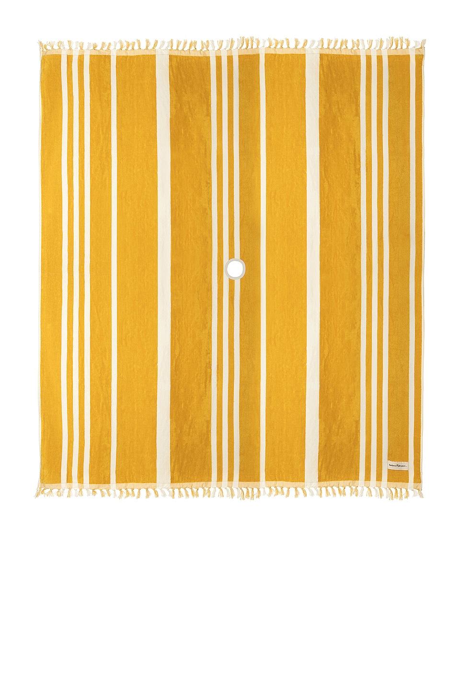 business & pleasure co. Beach Blanket in Vintage Yellow Stripe