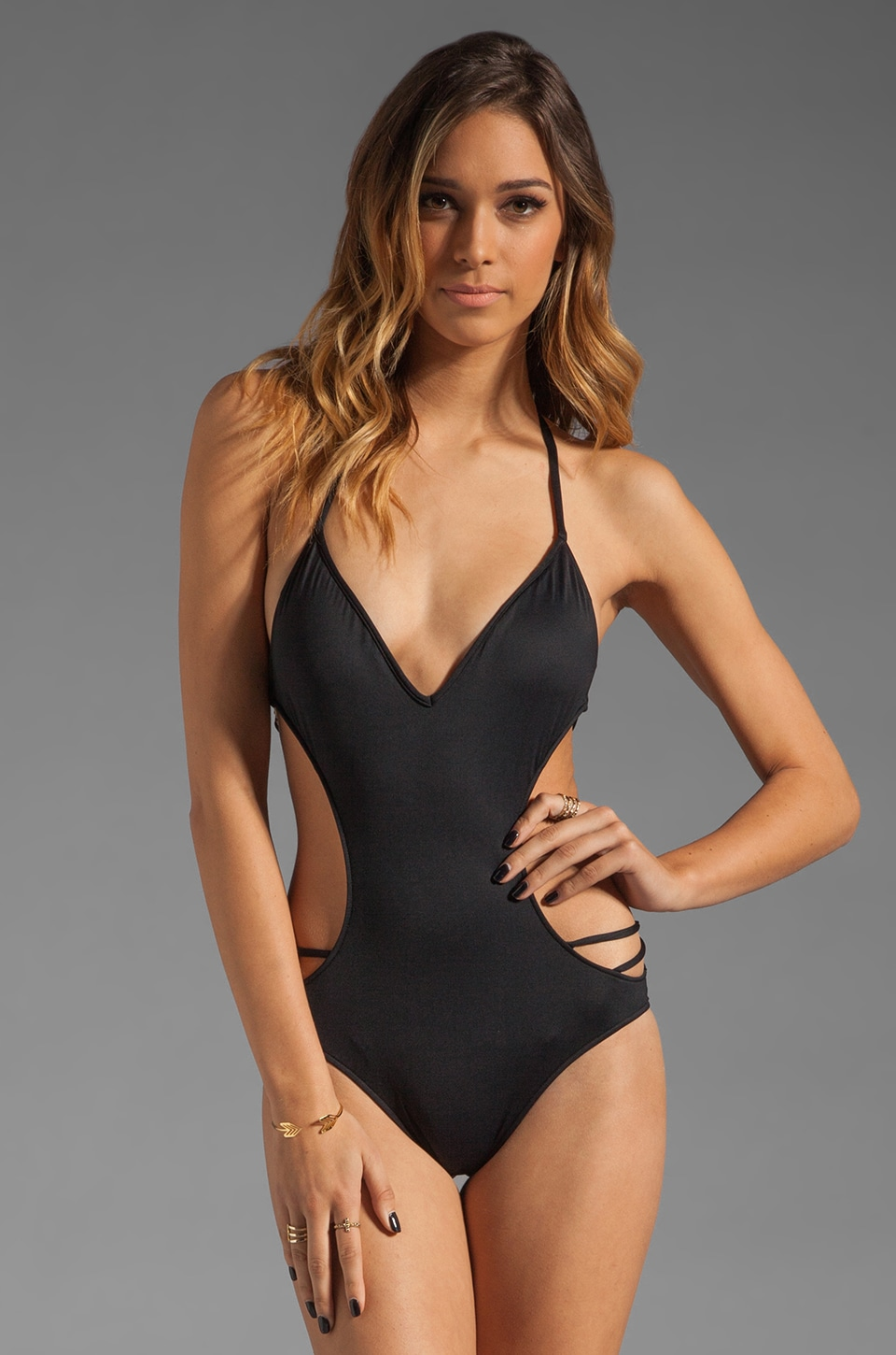 b.swim Back It Up Monokini in Noir