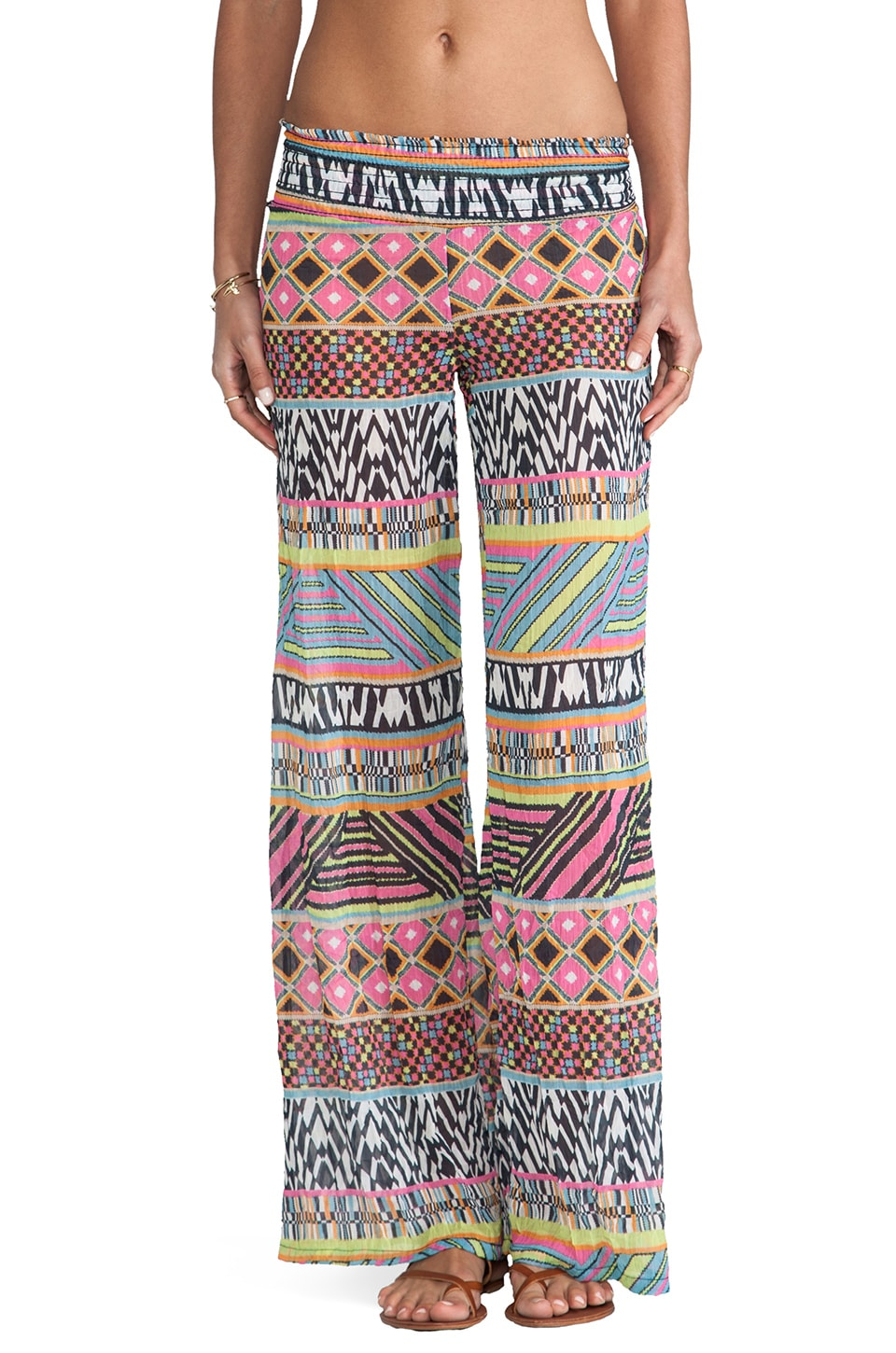 Bettinis Aztec Pants in Multi Print